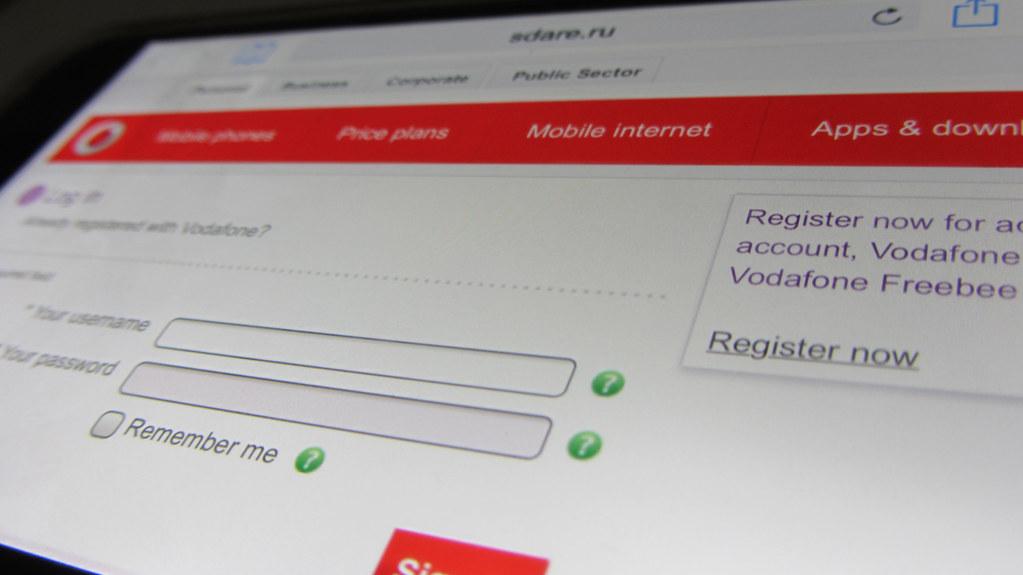 Phishing website Vodafone | Example of a Vodafone phishing w