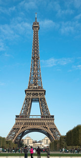 eiffel tower portrait of | by Evelakes67