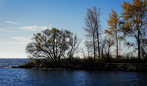 escanaba michigan unitedstates us 2010 coast garden lake landscape rock tree usa