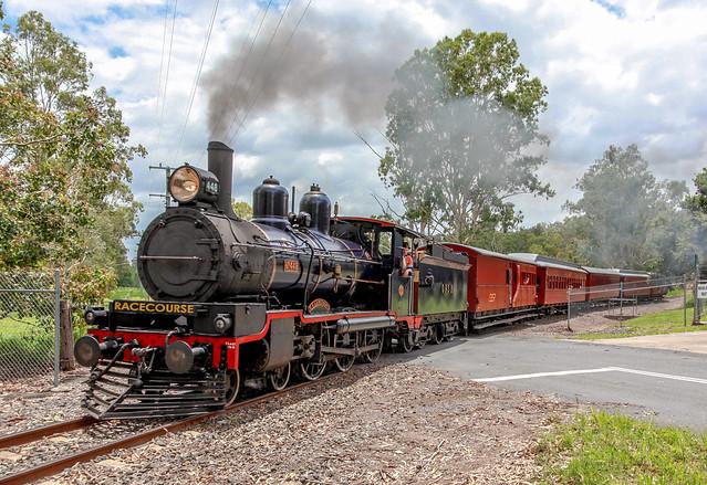 Queensland Pioneer Steam Railway, QPSR. PB15 class number 448,  18 December. 2015