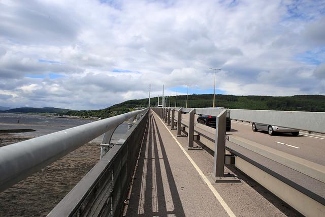 Crossing the Kessock Bridge