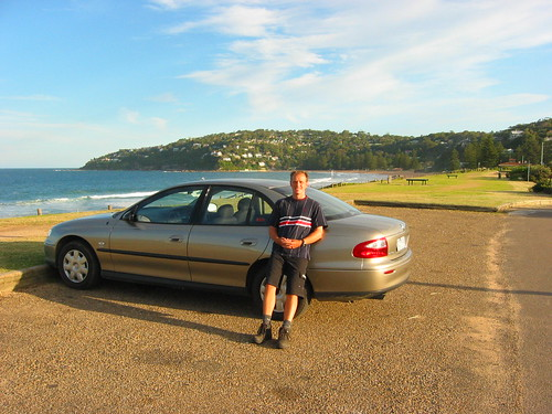 Me restong on our rental car on Palm Beach | by Robert Nyman