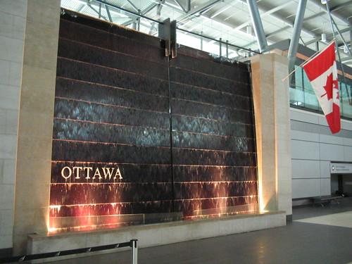 Fountain at Ottawa International Airport