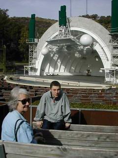 Ben and his Gran at the Hollywood Bowl