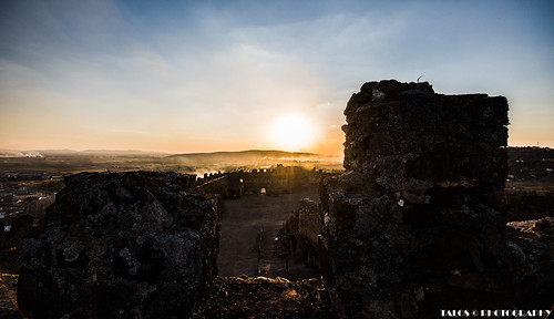 sunset españa sol nikon puestadesol castillo extremadura puebladealcocer nikond810 tamron18270