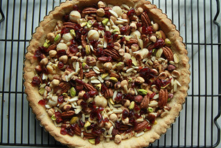 Caramel Nut and Cranberry Tart- Vegan and Gluten Free from HeatherChristo.com | by Heather Christo
