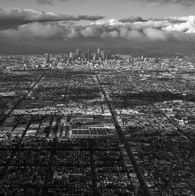 Clear day over LA.
