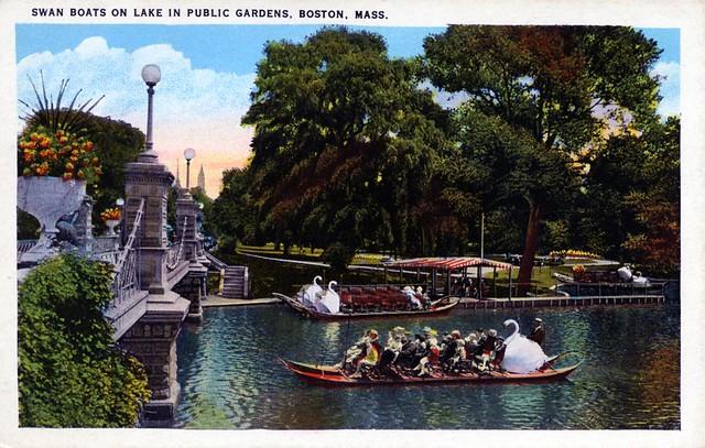 Swan Boats Boston Public Garden MA