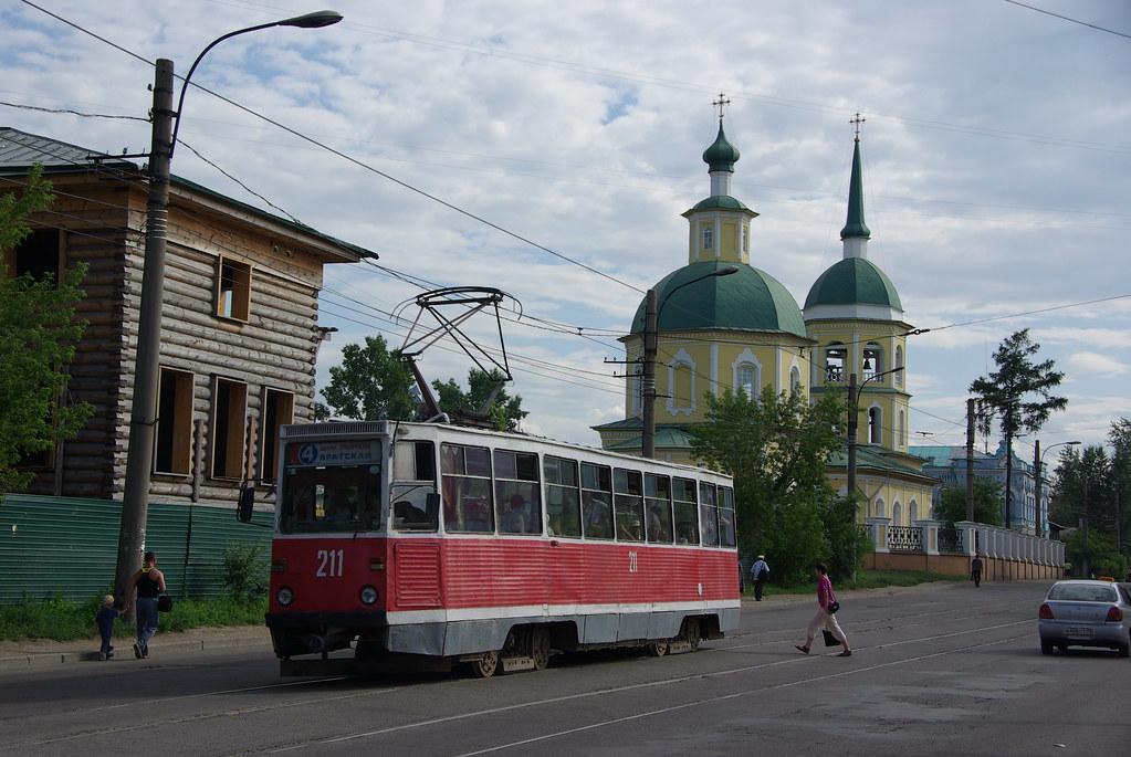 Irkutsk tram 71-605 211