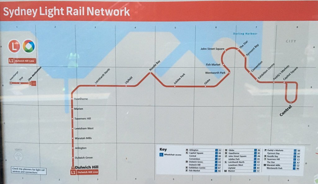 Sydney light rail network map (Nov15) | The latest iteration ...