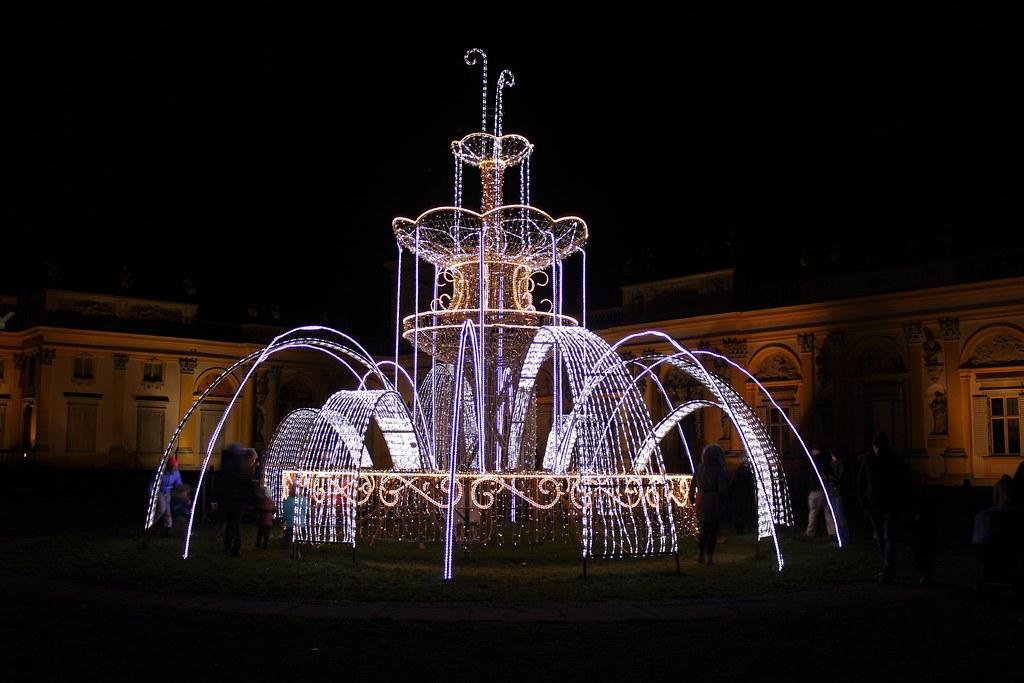 Królewski Ogród światła Wilanów Warszawa Polska Flickr