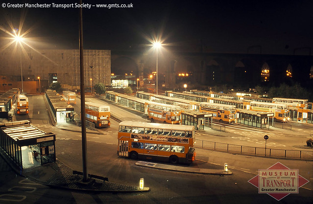 GM Buses in Stockport bus station