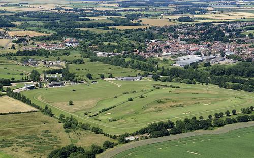 golf club fakenham norfolk racecourse aerial aerialphotography aerialimage aerialphotograph aerialimagesuk aerialview britainfromabove britainfromtheair viewfromplane droneview britain hires hirez highresolution