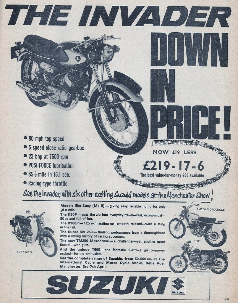 1968 ADVERT SUZUKI MOTORCYCLES | JOHN | Flickr