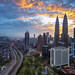 Another Fiery Sunrise in Kuala Lumpur by Nur Ismail Photography
