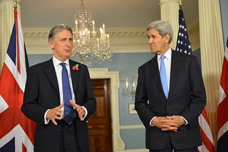 Secretary Kerry Delivers Remarks With British Foreign Secretary Hammond