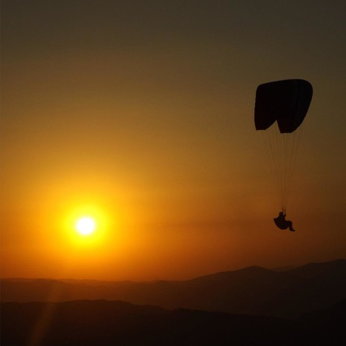 sunset sky square freedom fly squareformat paragliding kayseri iphoneography instagramapp
