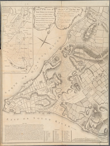 John Montresor map of NYC 1775 NYPL Z | by NYC H2O