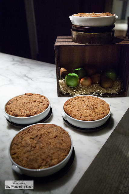 Trio of Seasonal Cobblers for Two at the pastry station
