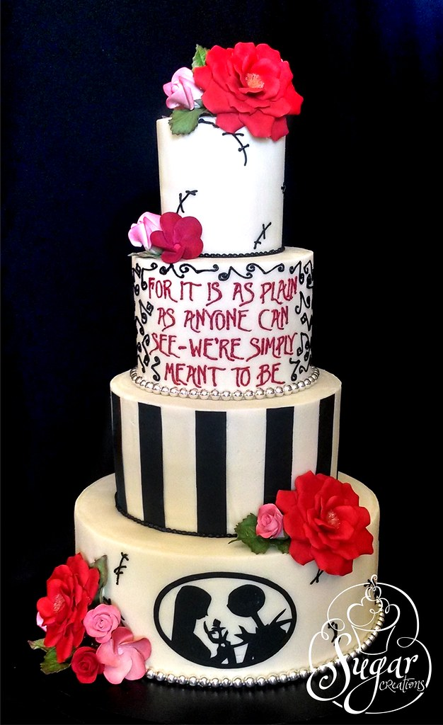 Nightmare Before Christmas Wedding.Nightmare Before Christmas Wedding Cake Rebecca Sutterby