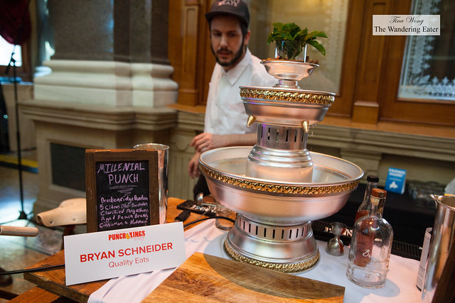 Bryan Schneider of Quality Eats prepping his Millenial Punch