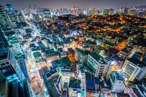 city travel rooftop night nikon asia cityscape wideangle korea aerial seoul southkorea gangnam nikond5100