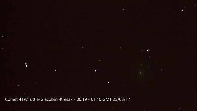 Comet 41P/Tuttle-Giacobini-Kresak Timelapse
