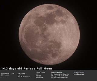 Perigean Full Moon 28 Sep 2015 | by Shahrin Ahmad (ShahGazer)