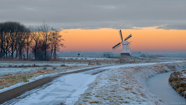 De Witte Molen at sunrise