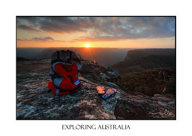 Exploring Australia - Sunset Blue Mountains