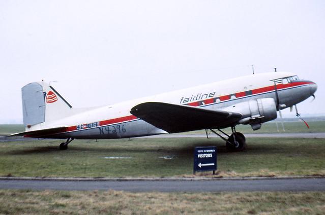 N4296 (ex OY-DNC), Douglas C-47, Baginton, March - April 1969