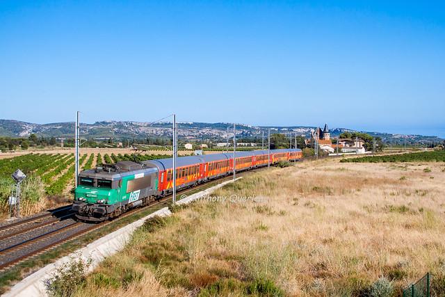 27 aout 2012 BB 7400 Train 876426 Cerbere-Avignon Narbonne