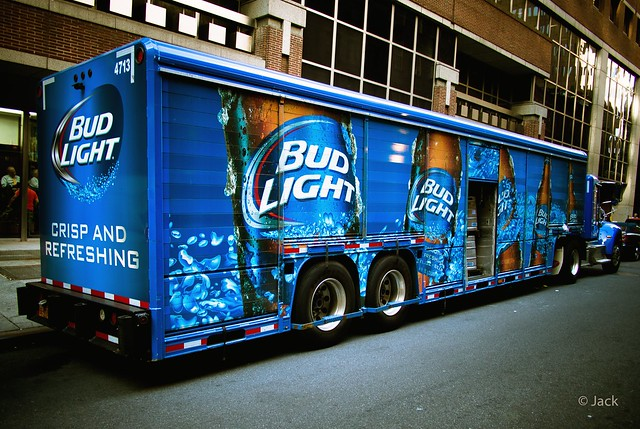 the Bud light truck