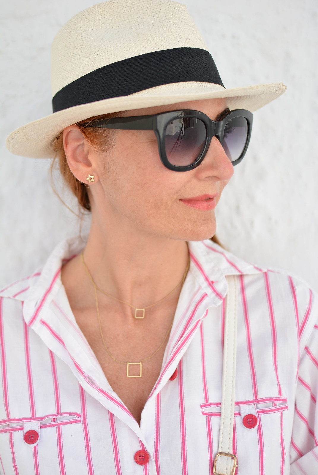 Vintage DVF pink and white striped jumpsuit