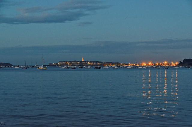 Saint Malo à la nuit tombante