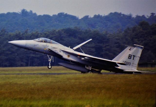 F-15C Eagle 80-0020/BT 525thTFS/36thTFW USAFE (Bitburg AB, Germany). Soesterberg Air Base, the Netherlands. 11 July 1986.