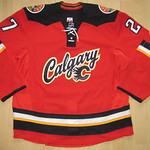 Calgary Flames 2014 - 2015 alternate Game Worn Jersey