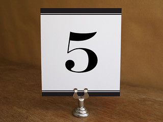 Printable Classic Black and White Black Stripe Table Number Template