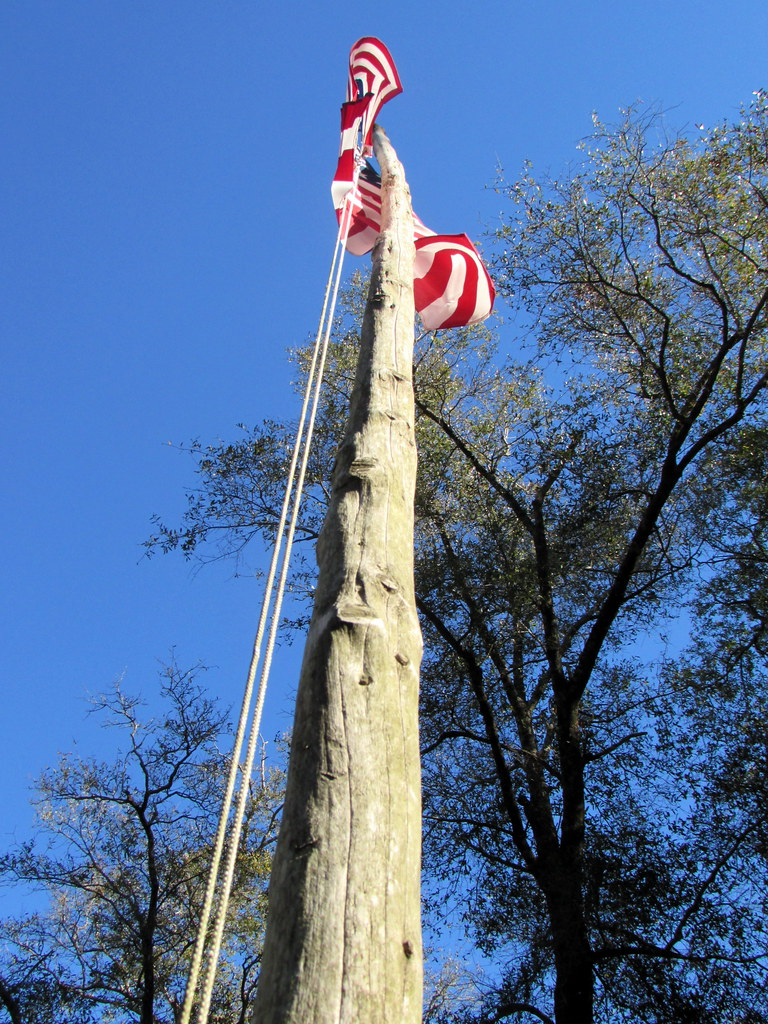 Wooden Flag Pole  | My wife and I attended the Christmas ope