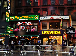 Restaurants on Rainy West 48th St.