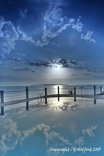 blue sunset sky clouds seaside nikon outdoor greece filter shore corfu cokin d5300