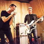 Thu, 22/10/2015 - 6:58pm - Dave Gahan teams up with Rich Machin and Ian Glover with an audience of WFUV Members at MSR Studios in New York City. October 21, 2015. Hosted by Russ Borris. Photo by Gus Philippas/WFUV