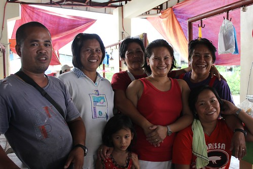 Market vendors gather for a photo together in the newly-rehabilitated Tunga public market - June 2015 | by dilg.yolanda