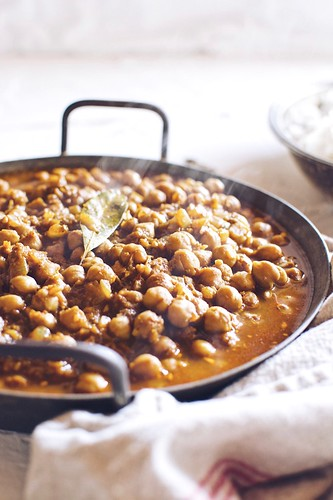 curried chickpeas | by Hapaway