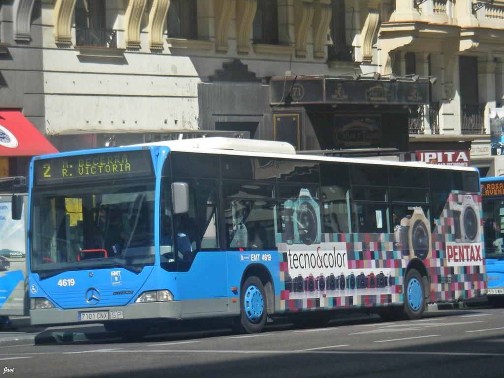 Mercedes Citaro 4619 De Emt Madrid Realizando La Linea 2 M