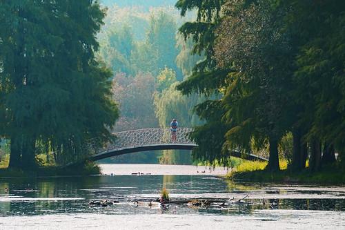 park autumn people fall colors landscape seasons view atmosphere romania bucharest bucuresti contrjour