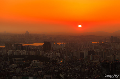 2016 asia asian hill korea korean n namsan october rok red republic seoul south tower dusk landscape orange park photography sky skyline sun sunset urban yellow 서울 southkorea outdoor