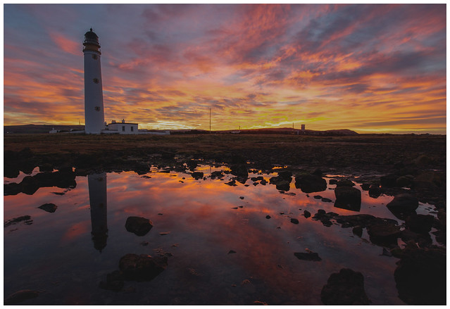Barns Ness Lighthouse at Sunset-5