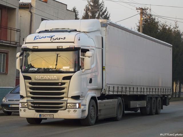 Scania R410 Streamline Highline Bianco Trans (SK)