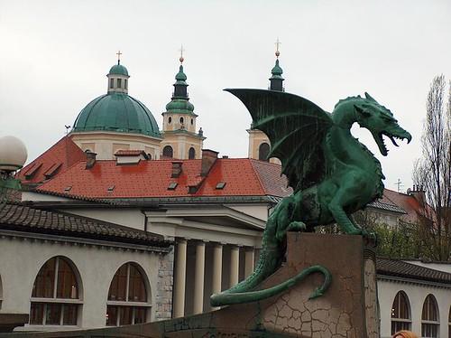 Dragon Bridge & St Nicholas Cathedral